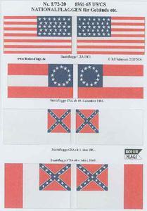 Rofur US Civil War 1861-1865 1/72-20: US and CS Troops 1861-65 - 2824104008