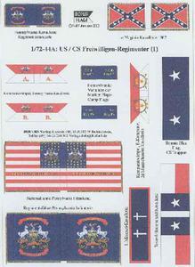 Rofur US Civil War 1861-1865 1/72-44a: US/CS Volonteers - 2824104016
