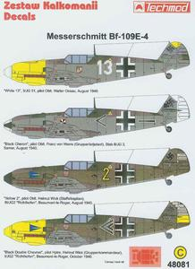 Techmod 48081 - Messerschmitt Bf-109E-3 (1/48) - 2824104142