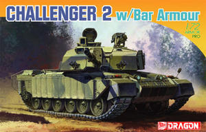 Dragon 7287 Challenger 2 w/Bar Armour (1/72) - 2824104168