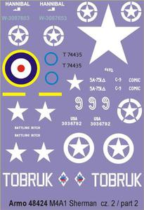 Armo 48424 - M4A1 Sherman cz.2 (kalkomania 1/48) - 2824104360