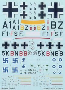 Techmod 72136 - Dornier Do 17Z (kalkomania 1/72) - 2824104609