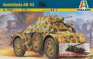 Italeri 7052 Włoski samochód opancerzony Autoblinda AB 43 (1:72) - 2824105439