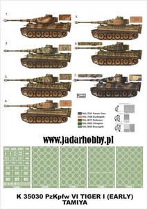 Montex K35030 # PzKpfw VI Tiger I Early (Tamiya) (1/35) - 2824105922