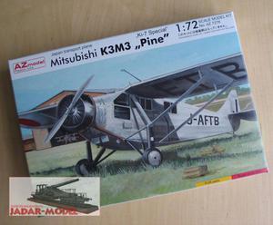 """AZ model AZ 7278 Mitsubishi K3M3 """"Pine"""" """"Ki-7 Special"""" (1/72) - 2824106271"""