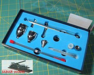 MAR AEROGRAF AD-7790 z dyszami 0.3mm i 0.2mm - 2824107187