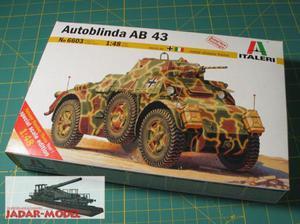 Italeri 6603 Autoblinda AB 43 (1:48) - 2824107204