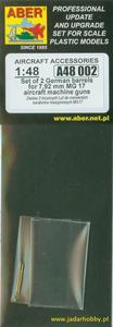 Aber A48002 Dwie lufy do niemieckich karabinów MG17 (1/48) - 2824107261