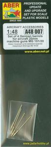Aber A48007 4 lufy do niemieckich km. 20mm MG151/20 (1/48) - 2824107269