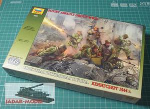 Zvezda 3509 WWII Soviet Assault Group, Konigsberg 1945 (1/35) - 2824107687