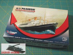 1:500 Mirage 500601 m/s Pilsudski - 2824108230