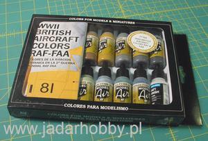 Vallejo 71189 WWII British Aircraft Colors (16 x farba akryl 17ml) - 2824108822