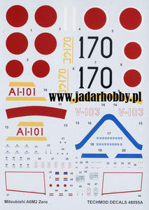 Techmod 48095 - Mitsubishi A6M2 Zero (1/48) - 2824109155