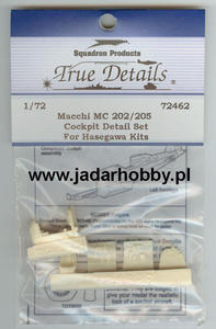 True Details 72462 Macchi MC 202/205 Cockpit Detail Set (1/72) - 2824109337