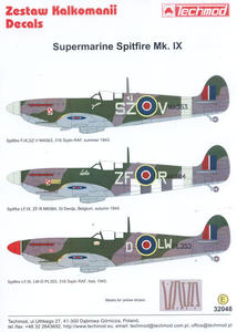 Techmod 32048 - Supermarine Spitfire Mk. IX (1/32) - 2824109477