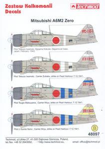 Techmod 48097 -Mitsubishi A6M2 Zero (1/48) - 2824109479