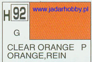 Mr.Hobby 092 (Gunze Sangyo) Aqueus Hobby Color Color - H92 CLEAR ORANGE - 2824109886