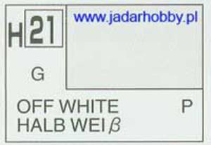 Mr.Hobby 021 (Gunze Sangyo) Aqueus Hobby Color Color - H21 OFF WHITE - 2824109887