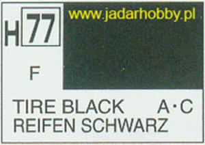 Mr.Hobby 077 (Gunze Sangyo) Aqueus Hobby Color Color - H77 TIRE BLACK - 2824109902