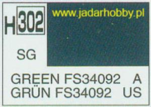 Mr.Hobby 302 (Gunze Sangyo) Aqueus Hobby Color Color - H302 GREEN FS34092 - 2824109912