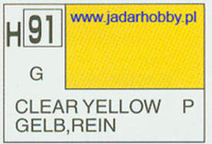 Mr.Hobby 091 (Gunze Sangyo) Aqueus Hobby Color Color - H91 CLEAR YELLOW - 2824109914