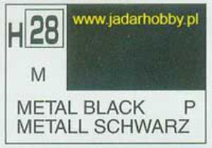 Mr.Hobby 028 (Gunze Sangyo) Aqueus Hobby Color Color - H28 METAL BLACK - 2824109927