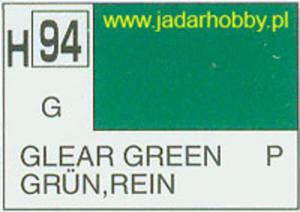 Mr.Hobby 094 (Gunze Sangyo) Aqueus Hobby Color Color - H94 CLEAR GREEN - 2824109953