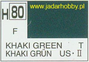 Mr.Hobby 080 (Gunze Sangyo) Aqueus Hobby Color Color - H80 KHAKI GREENw - 2824109962