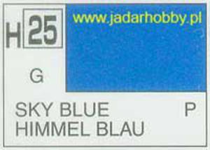 Mr.Hobby 025 (Gunze Sangyo) Aqueus Hobby Color Color - H25 SKY BLUE - 2824109983