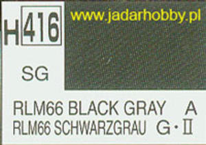 Mr.Hobby 416 (Gunze Sangyo) Aqueus Hobby Color Color - H416 RLM66 BLACK GRAY - 2824109988