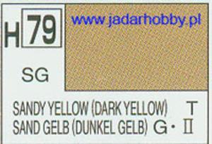 Mr.Hobby 079 (Gunze Sangyo) Aqueus Hobby Color Color - H79 SANDY YELLOW (DARK YELLOW) - 2824109998