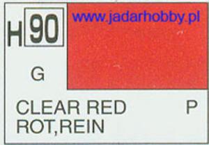Mr.Hobby 090 (Gunze Sangyo) Aqueus Hobby Color Color - H90 CLEAR RED - 2824110003