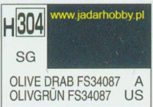 Mr.Hobby 304 (Gunze Sangyo) Aqueus Hobby Color Color - H304 OLIVE DRAB FS34087 - 2824110032