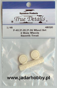 True Details 48020 P-40/P-35/P-36 Wheel Set, Smooth Tread (1/48) - 2824110212