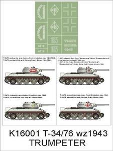 Montex K16001 # T-34-76 wz.1943 (Trumpeter) (1/16) - 2824110308