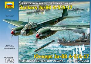 Zvezda 7284 Junkers Ju-88 A-5/A-7 (1/72) - 2824110380