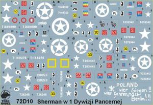 ToRo 72D10 Polskie Shermany - 1 Dywizja Pancerna 1944-45 (1/72) - 2824110419