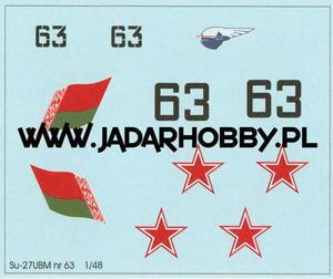 S-PRO A4801 - Suchoj Su-27 UBM nr 63 Belarus (1/48) - 2824110442