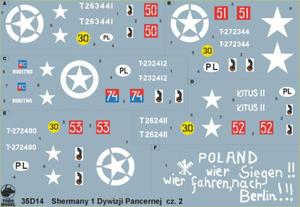 ToRo 35D14 Polskie Shermany - 1 Dywizja Pancerna, NWE 1944-45 vol.2 (1/35) - 2824109681