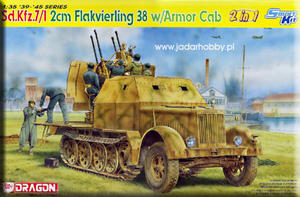 Dragon 6533 Sd. Kfz. 7/1 2cm Flakvierling 38 w/Armor Cab - Smart Kit (1/35) - 2824110716