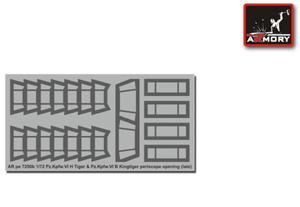 Armory AR PE7250b Pz.Kpfw.VI H Tiger & Pz.Kpfw.VI B Kingtiger Periscope Openings (late) (1/72) - 2824111580