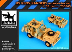 Black Dog T35065 US RSOV RANGERS, zestaw akcesoriów (1/35) - 2824111630