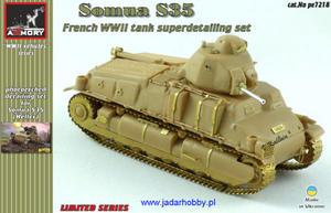 Armory AR PE7218 Somua S35-elementy fototrawione (1/72) - 2824111928