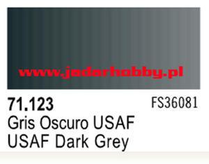 71123 Vallejo Model Air USAF Dark Grey (farba akryl 17ml) - 2824112541