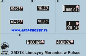 ToRo 35D18 Limuzyny Mercedes-Benz w Polsce (1/35) - 2824112542