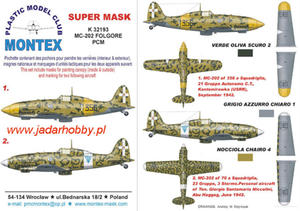 Montex K32193 Macchi MC-202 (PCM) (1/32) SUPER MASK - 2824112873