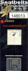 HGW 148013 Albatros D.III, D.V. D.III Oeffag - Seatbelts (1/48) - 2824113186