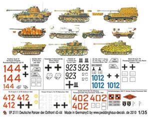 Peddinghaus 2111 1:35 German Tanks, East Front 1943-1944 - 2824113269