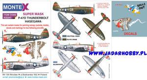 Montex K32247 P-47D Thunderbolt (Hasegawa) (1/32) SUPER MASK - 2824113562