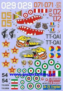 Authentic Decals 48-47 Su-25 Frogfoot (1/48) - 2824114117